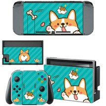 Nintendo Switch Console Dock Vinyl Skin Stickers Decals Kawaii Cute Corgi Puppy - $9.70