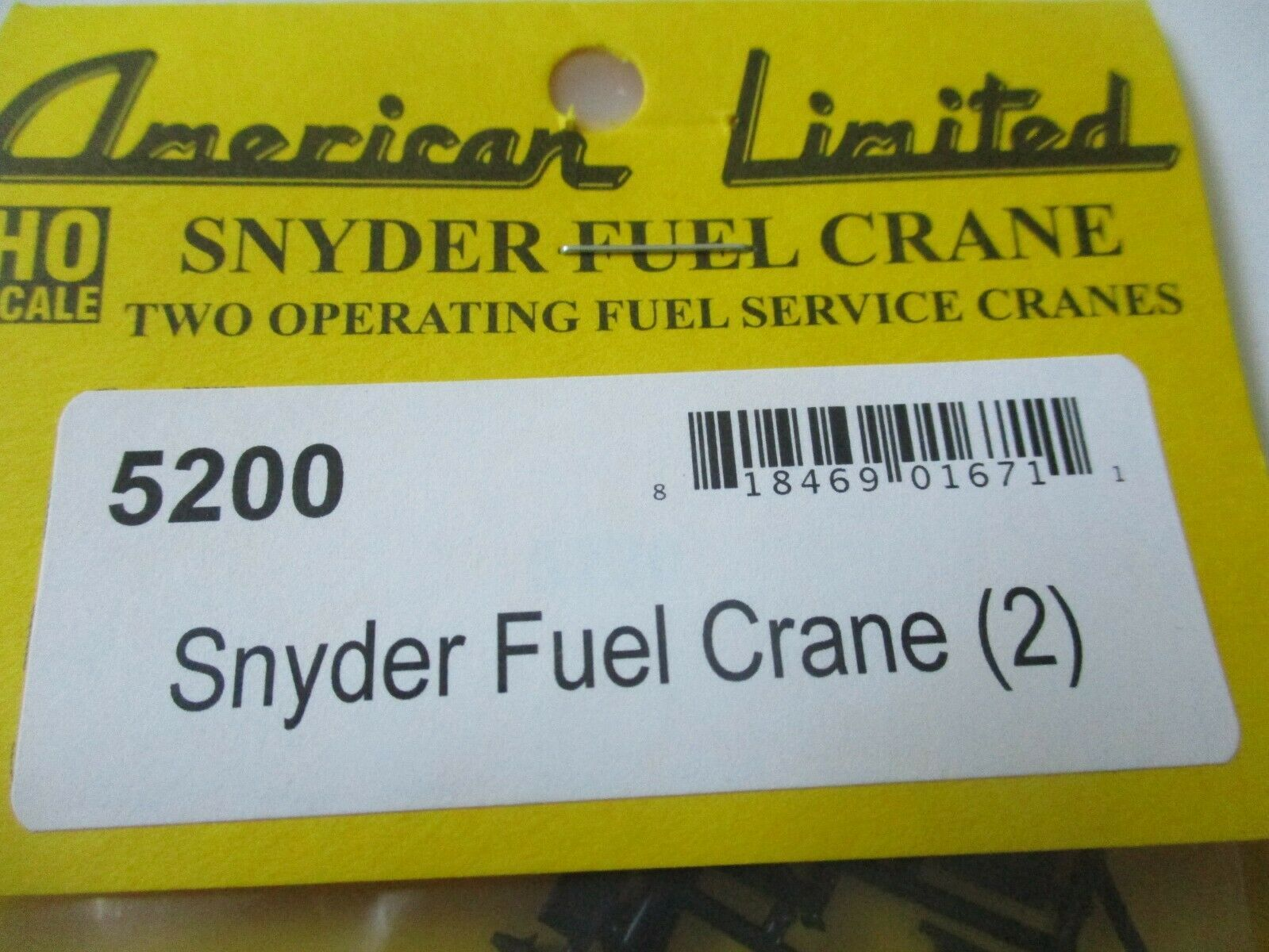 American Limited # 5200 Snyder Fuel Crane 2 Pack HO-Scale