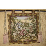 Vintage Tapestry Hunting Scene Wall Hanging  - $40.50