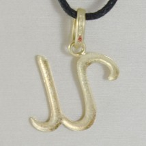 18K YELLOW GOLD PENDANT CHARM INITIAL LETTER U, MADE IN ITALY 0.85 INCHES, 21 MM image 2