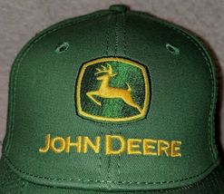 John Deere LP16930 Green Adjustable BaseBall Cap With Leaping Deer Logo image 5