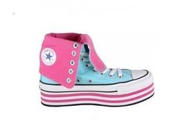 Converse Turquoise Pink RANDIAN Platform XHI 13-Eye Shoes Wms 9.5 NIB DISC - $79.99