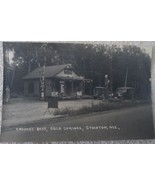 Early 1900's vintage gas station & food store postcard Stockton Maine - $29.99