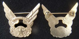 WWII WASP Avenger Field Training Officer Cap Badge and DI pin back    - $35.00