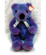 Ty plush bear purplebeary w silver ribbon thumbtall
