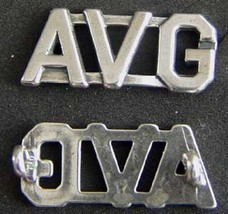 WWII Flying Tigers AVG Collar Insignia Sterling Silver       - $60.00