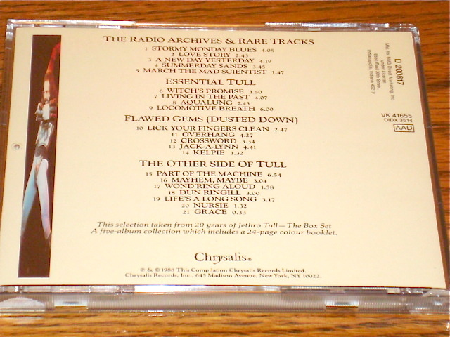 JETHRO TULL 20 Years of Jethro Tull  CD