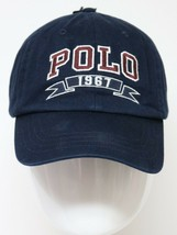 Polo Ralph Lauren 1967 Mens Classic Hat Navy One Size Leather Strap - $34.99