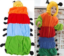 Baby Kid Newborn Caterpillar Swaddle Sleep Sack Sleeping Bag Wrap Hooded... - $23.95