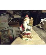 "20#4  Christmas Bobble top Santa Claus about 6 1/4"" tall Christmas Decor... - $13.85"