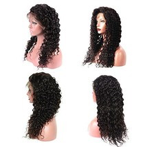 Suerkeep Deep Wave Human Hair Wigs Lace Front Glueless 150% Density 8A G... - $143.21