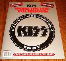 KISS ORIGINAL WORLD WIDE TOUR BOOK ALIVE WORLD WIDE 1997 - $143.55