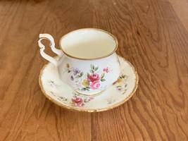 Royal Albert Tenderness Rose Bouquet Tea Cup and Saucer Set Teacup Hampton Shape - $45.77