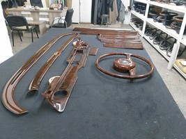 W108 Full Ebony Wood Set Seat Covers Door Panels Sael Sill Pocket Comple... - $4,327.50