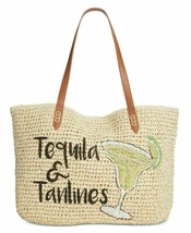 Inc Tropical Straw Tote, Large Tequila & Tanlines NWT Free Shipping - $23.74
