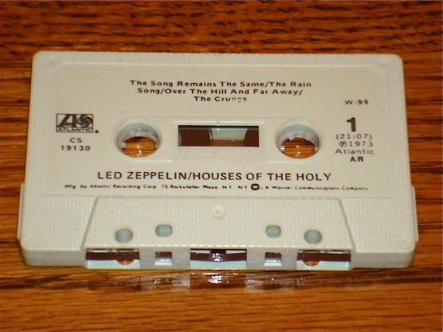 LED ZEPPELIN HOUSES OF THE HOLY ORIGINAL CASSETTE