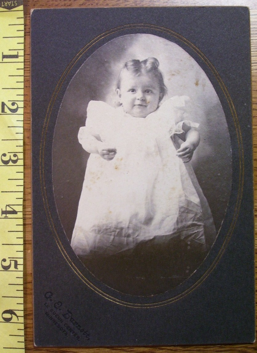 Cabinet Card Living Doll Cute Baby Girl Oval Frame c.1880-90 - $6.00