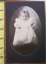Cabinet Card Living Doll Cute Baby Girl Oval Frame c.1880-90 - $6.40