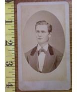 CDV Carte De Viste Photo Handsome Man Graphics! c.1859-80 - $3.20