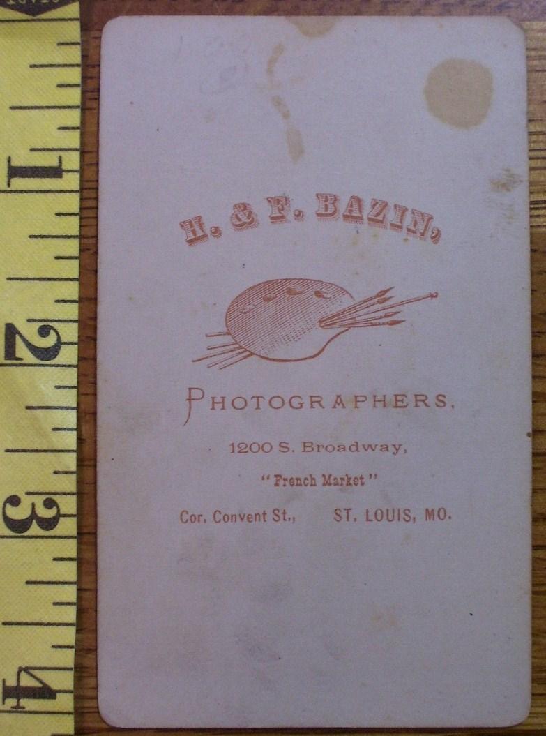 CDV Carte De Viste Photo Pretty Lady St. Louis! c.1859-80