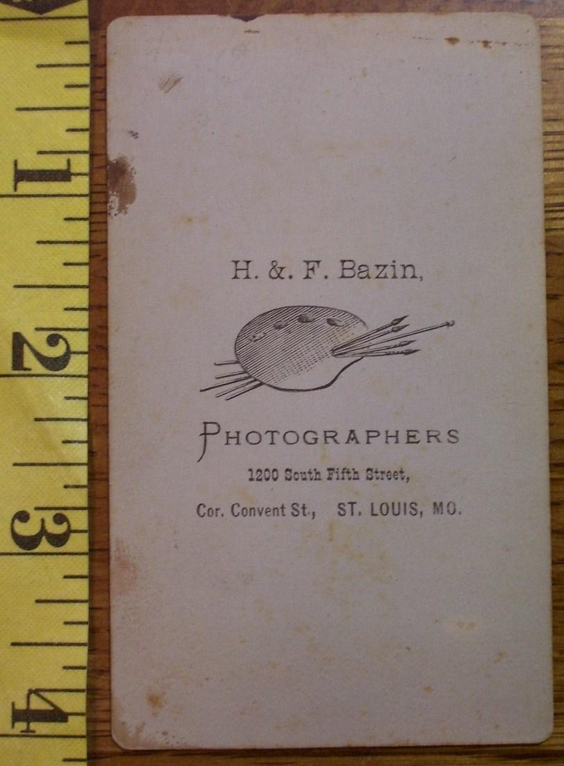 CDV Carte De Viste Photo Cute Girl St. Louis! c.1859-80