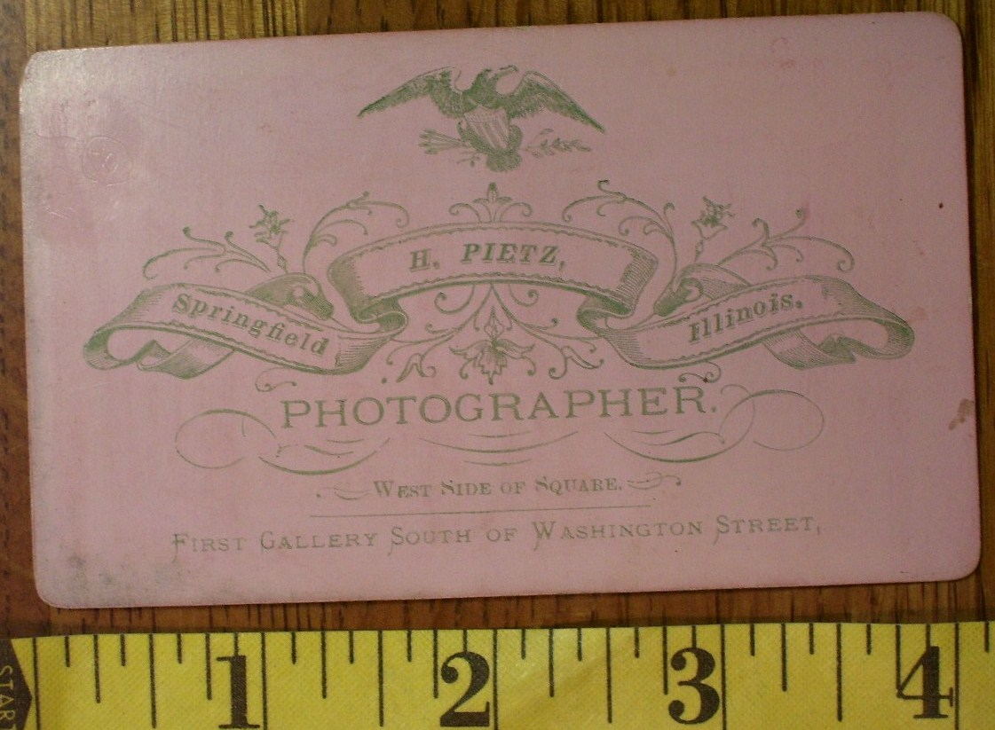 CDV Carte De Viste Photo Young Man Bow Tie Graphics! c.1859-