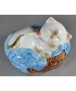 Avon Cat Napper 1983 ceramic pomander - $5.50