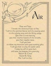 Air Invocation Parchment-Like Page for Book of Shadows, Altar! - $1.85