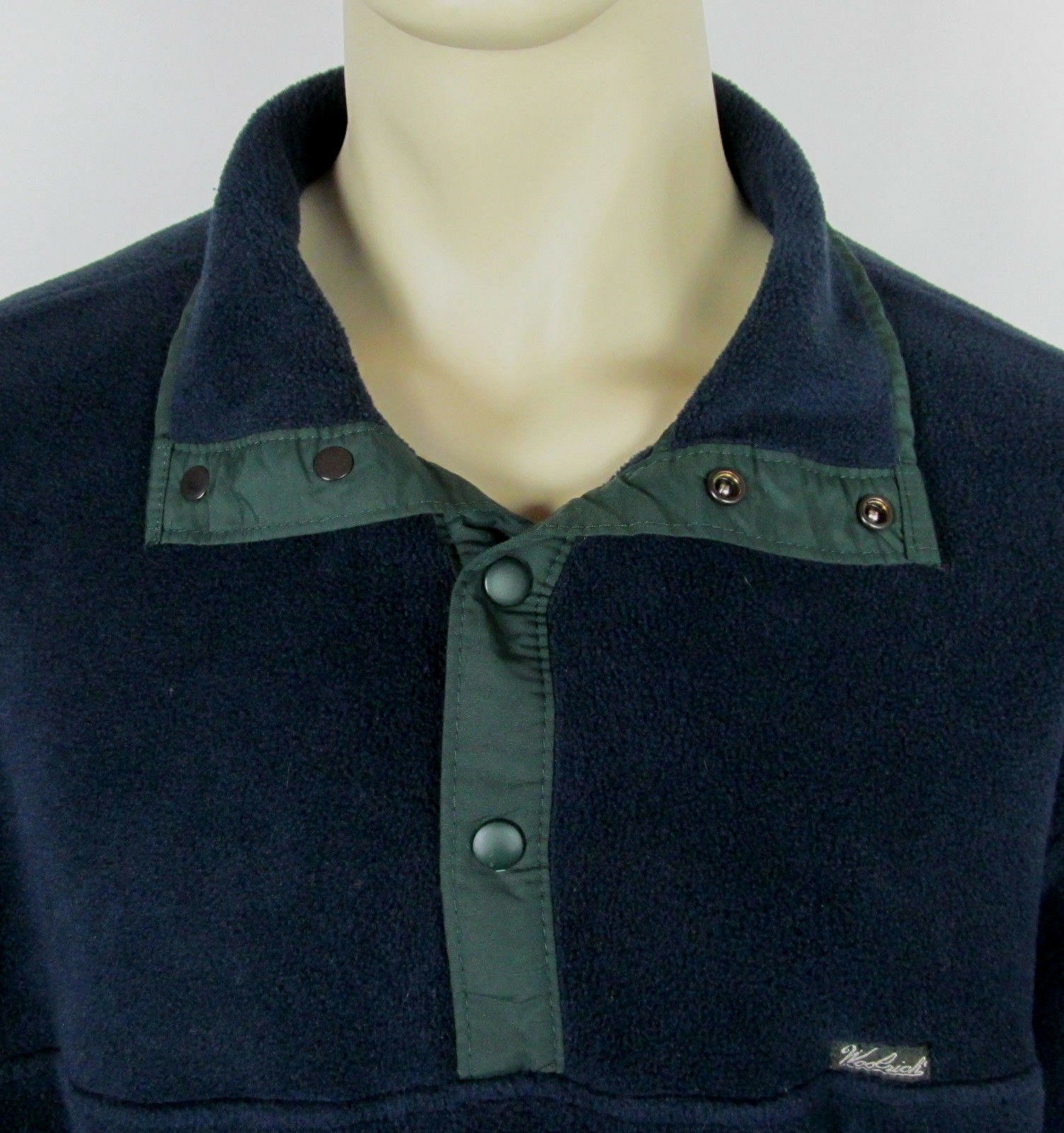 Woolrich Snap-T fleece jacket USA Made Navy Blue Mens Size L image 5