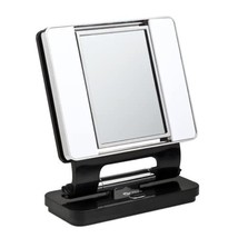 Ott-lite Natural Daylight Makeup Mirror, Black/chrome (26 Watt) - $66.99