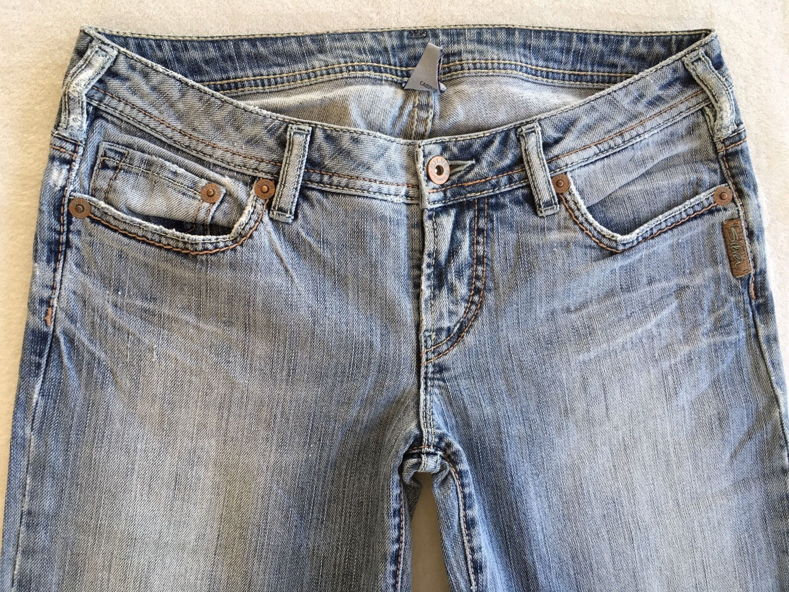SILVER JEANS Sale New Light Buckle Low Rise Denim Stretch Jean Bermuda Shorts 28