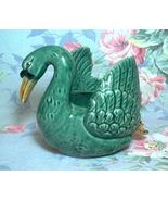 Antique Green Swan Planter 1920's-30's Made In Japan hand-painted w/pers... - $24.50