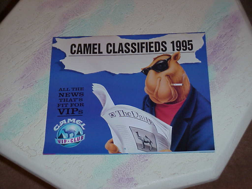 Joe Camel ,The Year In Pictures , 1992 , Winston , 1995
