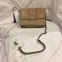 Rebecca Minkoff Stargazing Small Flap Cross Body Bag Sand Purse Suede  Studded - $120.80