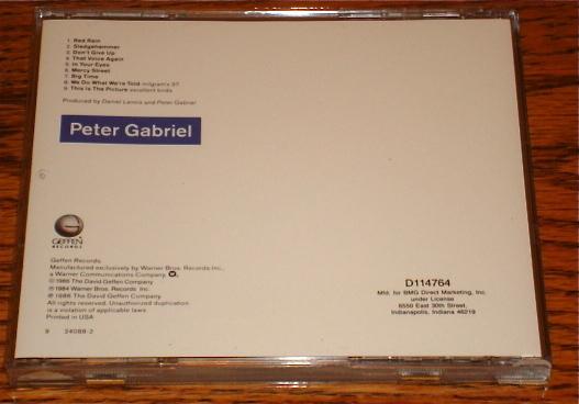 PETER GABRIEL SO ORIGINAL CD