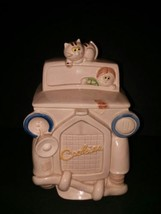 Cookie Jar Crazy Cat Lady Flat Tire Old Car  - $37.40