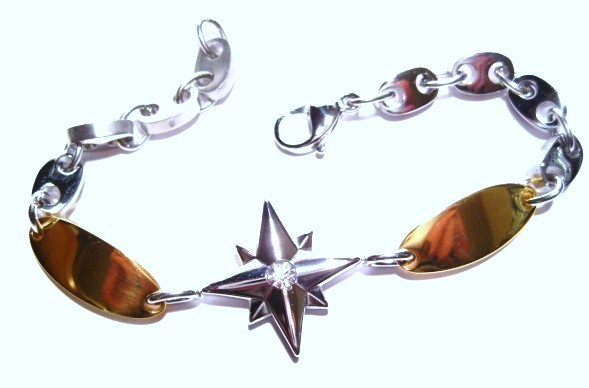 SSB11289 CZ Star Stainless Steel Bracelet
