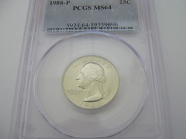 Washington Quarter , 1988-P , PCGS MS-64  - $19.00