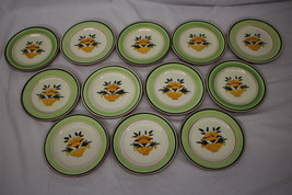 """Set of 12 Hand Painted Stangl Pottery FLORETTE Flower Urn 5073 6"""" Bread ... - $59.99"""