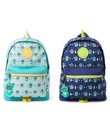 LINE Friends Dino BROWN Pattern Kids Backpack(+Silicone Doll Charm)Acc *... - $76.98
