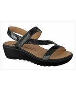 MEPHISTO Mobils Franca Black Leather Comfort Sandals sz 41 9.5 - 10 New ... - $96.56