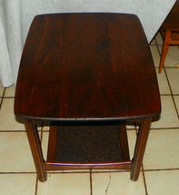 Mid Century Cherry End Table / Side Table - $393.39 CAD