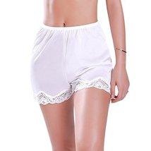 Ilusion Women's Nylon Daywear Bloomer Slip Pants with Lace Trim 1039 (XL, White)