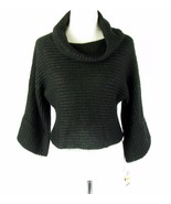 NWT INC  Size M Black Metallic Shimmer Cowl Sweater New - $15.99