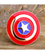 Round Captain America Shield Icon Brooches Pins For Men, Women, Kids Fas... - $19.22