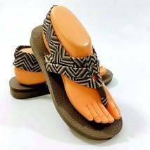Skechers Yoga Foam Womens size 8 Ankle Wrap Thong Flip Flop Sandal Shoes - $15.03
