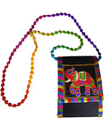 Zonnie Shanvi Indian Embroidered Small Purse Black - $15.73