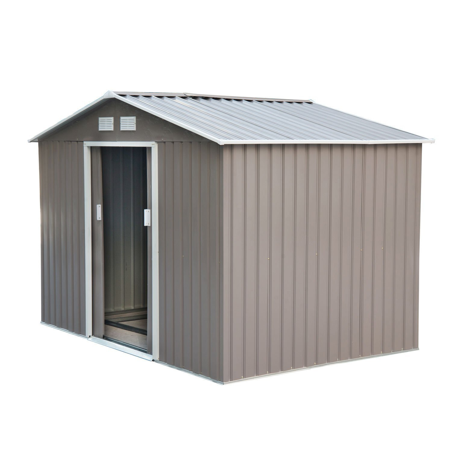 9 39 x6 39 garden storage shed garage utility tool metal for Garden shed garage