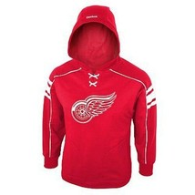 Reebok Detroit Red Wings Fleece Airstrike Hoodie Sweatshirt Nwt Youth Sz. 8 $60 - $29.99