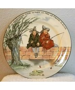 Antique Royal Doulton Plate THE GALLANT FISHERS England 10.25 Diameter - $24.95